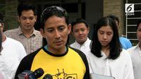 Sandiaga Uno mengatakan dirinya bersyukur debat Pilpres perdana berjalan lancar. Ia menjelaskan ada pesan yang sebenarnya ingin disampaikan saat debat namun ditahan Prabowo.