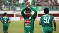 PSS Sleman menang 3-0 atas PSBS Biak di Stadion Maguwoharjo, Sleman, Senin (10/9/2018). (Bola.com/Ronald Seger)