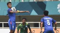 Duel Bangladesh vs Thailand di penyisihan Grup B Asian Games 2018 di Stadion Pakansari, Cibinong, Kamis (16/8/2018). (Bola.com/Dok. INASGOC)