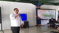 Menteri Perhubungan Budi Karya melakukan kunjungan kerja di Cirebon (Foto:Merdeka.com/Wilfridus S)