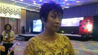 Merry Harun, Canon Division Director PT Datascrip di sela-sela peluncuran kamera mirrorless EOS M6 di Jakarta. Liputan6.com/ Yuslianson