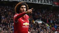 Tekad Marouane Fellaini sudah bulat untuk meninggalkan Manchester United pada akhir musim 2017-2018. (AFP/Paul Ellis)
