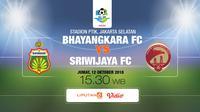 Bhayangkara vs Sriwijaya