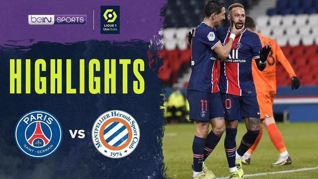 Berita Video Highlights Liga Prancis, PSG Kalahkan Montpellier Empat Gol Tanpa Balas (23/1/2021)
