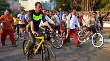 Dikawal Paspampres, Jokowi Lari Pagi di Bundaran HI