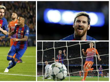 4 rekor hattrick Lionel Messi bersama Barcelona. (AFP)