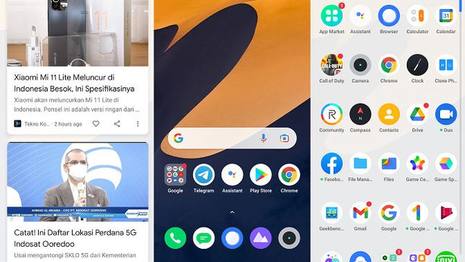 Realme UI 2.0 yang ada di Realme 8 5G. (Liputan6.com/Agustinus M. Damar)