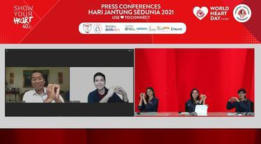 Konferensi Pers Hari Jantung Sedunia 2021 oleh YJI.