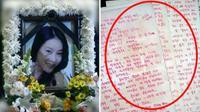 Surat terakhir yang ditulis Jang Ja Yeon (sbs.co.kr)