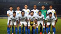 Timnas Malaysia U-23 saat melawan Korea Selatan pada penyisihan Grup E Asian Games 2018 di Stadion Si Jalak Harupat, Soreang, Bandung (17/8/2018). (Bola.com/Dok. FAM)