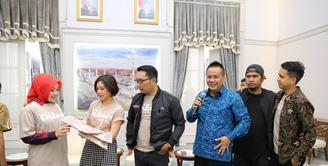 Vanesha Prescilla ke rumah dinas Ridwan Kamil