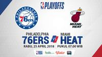 NBA Playoff 2018 Philadelphia 76ers Vs Miami Heat Game 5 (Bola.com/Adreanus Titus)