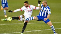 Dengan torehan 4 gol dalam 7 pertandingan sejauh ini, En-Nesyri tidak diragukan lagi menjadi juru gedor utama Sevilla. (Foto: AFP/Ander Gillenea)