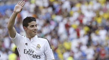 James Rodriguez telah resmi meninggalkan Real Madrid dan berlabuh ke Bayern Munchen. (EPA/Kiko Huesca)