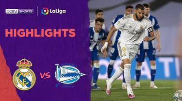 Berita video gol dan assist Karim Benzema dalam highlights pekan ke-35 La Liga 2019-2020 antara Real Madrid melawan Deportivo Alaves, Sabtu (11/7/2020) dini hari WIB.