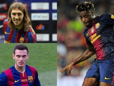 Kedatangan Boateng cukup membuat pendukung Barcelona terheran. Pemain 31 tahun tersebut dipastikan bergabung dengan status pinjaman dari Sassuolo. Namun sebelumnya Barcelona juga pernah melakukan transfer yang mengherankan. (Kolase Foto AFP)