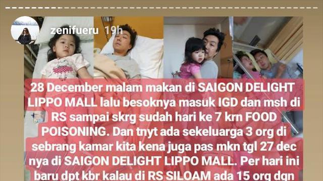 Para Pelanggan Saigon Delight Keracunan Dirawat Inap