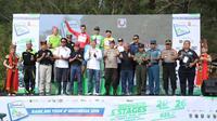 Balap sepeda di gelaran Tour de Indonesia di Ijen, Banyuwangi.