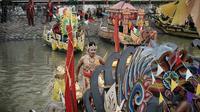 Festival Perahu Nusantara dan Parade Sepeda Onthel di Surabaya. (Sumber: Instagram/@surabayasparkling)