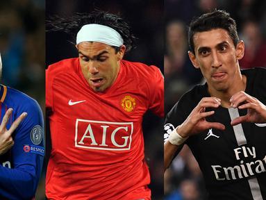 Patut diakui, Lionel Messi dan Cristiano Ronaldo adalah pesepak bola terbaik saat ini. Bermain bersama mereka tentu adalah hal yang sangat diimpikan. Berikut lima pemain yang pernah bermain bersama Messi dan Ronaldo (Kolase foto AFP)