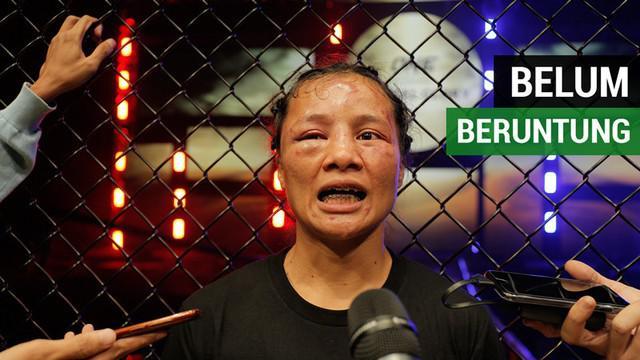 Berita video petarung Indonesia, Priscilla Hertati Lumban Gaol, memberi penjelasan mengapa dirinya bisa kalah dari Puja Tomar asal India di One Championship: Eternal Glory di Istora Senayan, Sabtu (19/1/2019).