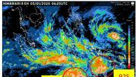 """pertumbuhan bibit siklon tropis dengan kode """"98S"""" yang berada di Samudra Hindia sebelah barat daya Bengkulu menyebabkan hujan angin di sejumlah wilayah."""