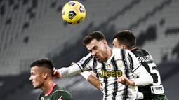 Pada pertandingan tersebut Bianconeri melumat tamunya dengan tiga gol tanpa balas. (Marco Alpozzi/LaPresse via AP)
