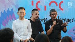 Wakil Kepala Bekraf Ricky Pesik memberi keterangan pers Indonesia Creative Incorporated (ICINC) di Jakarta, Kamis (11/07/2019). Badan Ekonomi Kreatif (Bekraf) akan memberangkatkan 5 pemenang seleksi ICINC ke Los Angeles dalam Head in the Clouds Festival. (Liputan6.com/Fery Pradolo)