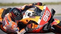 Pembalap Repsol Honda, Jorge Lorenzo. (AFP/Lluis Gene)