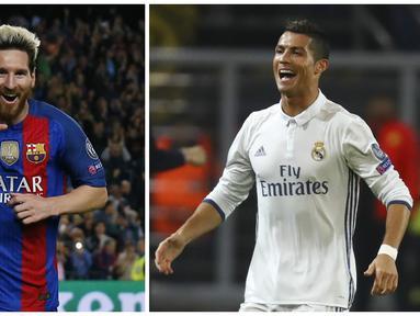 Kisah Lionel Messi dan Cristiano Ronaldo, para kolektor gol terbanyak Liga Champions. (AFP)