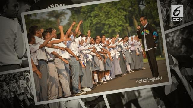 Presiden Jokowi kembali tampil menggunakan jaket unik. Kali ini bertemakan Asian Games 2018.