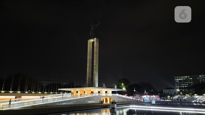 Hasil foto dengan Galaxy A50s saat malam hari. (Liputan6.com/ Agustin Setyo W)