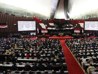 Suasana Sidang Pelantikan Ketua dan Wakil Ketua MPR