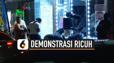 demonstrasi ricuh
