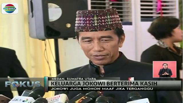 Jokowi juga merasa lega atas selesainya semu prosesi adat yang berjalan dengan lancar.