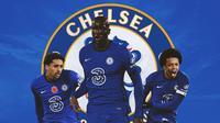 Chelsea - Marquinhos, Kalidou Koulibaly, Jules Kounde (Bola.com/Adreanus Titus)