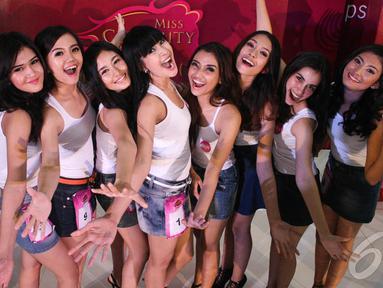 Para wanita cantik ini terpilih jadi Finalis Miss Celebrity 2014 asal Medan, Plaza Medan Fair, Medan, Sumatera Utara, Minggu (14/9/2014) (Faizal Fanani)