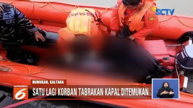 Tim SAR Gabungan temukan satu lagi jasad anak-anak, korban tabrakan kapal cepat di Sungai Nyamuk, Nunukan, Kalimantan Utara.