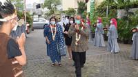 Dubes India Shri Manoj K Bharti saat tiba di Unusa. (Dian Kurniawan/Liputan6.com)