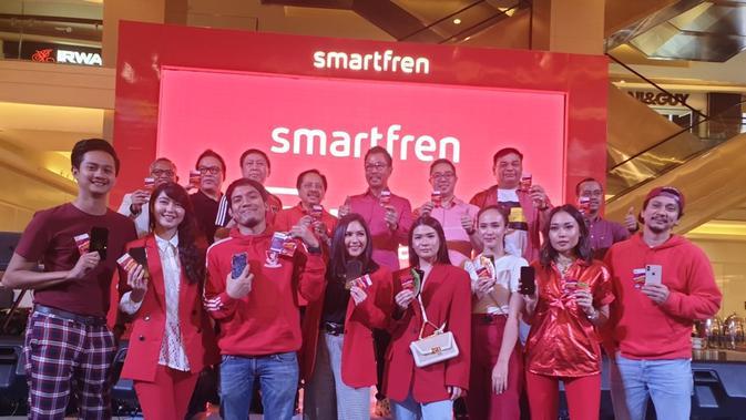 Seleb Tanah Air datang ke pameran Smartfren untuk upgrade eSIM secara gratis/Gilar Ramdhani.