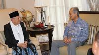 Ma'ruf Amin bertemu dengan Mahathir Mohamad (Dok. Istimewa)