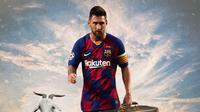Ilustrasi Lionel Messi Pergi dari Barcelona (Bola.com/Adreanus Titus)
