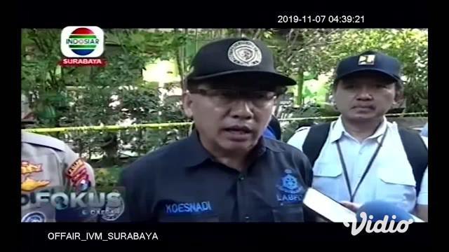 Pasca insiden ambruknya atap SDN Gentong Kecamatan Gadingrejo Kota Pasuruan, Polres setempat dibantu Tim Laboratorium Forensik (Labfor) Polda Jatim, langsung menggelar olah TKP, dengan melakukan uji bahan dan kelayakan bangunan.