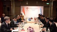 Presiden Jokowi Menggelar Pertemuan Bilateral dengan Sekjen PBB, Antinio Guterres di Pleno KTT ke-35 ASEAN, Bangkok, Thailand, Minggu (3/11/2019). (Foto: Biro Pers Setpres)