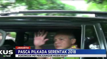 Dalam pertemuannya, Ganjar mengaku  mendapatkan ucapaan selamat dari Megawati.