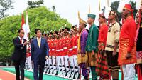 Presiden Jokowi dan PM Jepang Shinzo Abe di Istana Bogor (Setpres/Biro Pers)