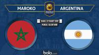 Laga Persahabatan - Maroko Vs Argentina (Bola.com/Adreanus Titus)