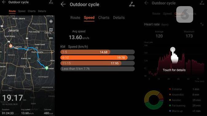 Tampilan aplikasi Huawei Health untuk Huawei Watch GT 2 Pro. Liputan6.om/Iskandar