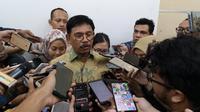 Menteri Komunikasi dan Informatika, Johnny G. Plate, di Jakarta, Selasa (28/1/2020). (Liputan6.com/ Agustinus Mario Damar)