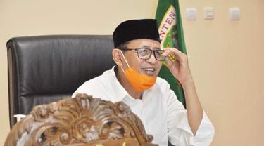 Gubernur Banten, Wahidin Halim. (Kamis, 18/02/2021). (Dokumentasi Pemprov Banten).